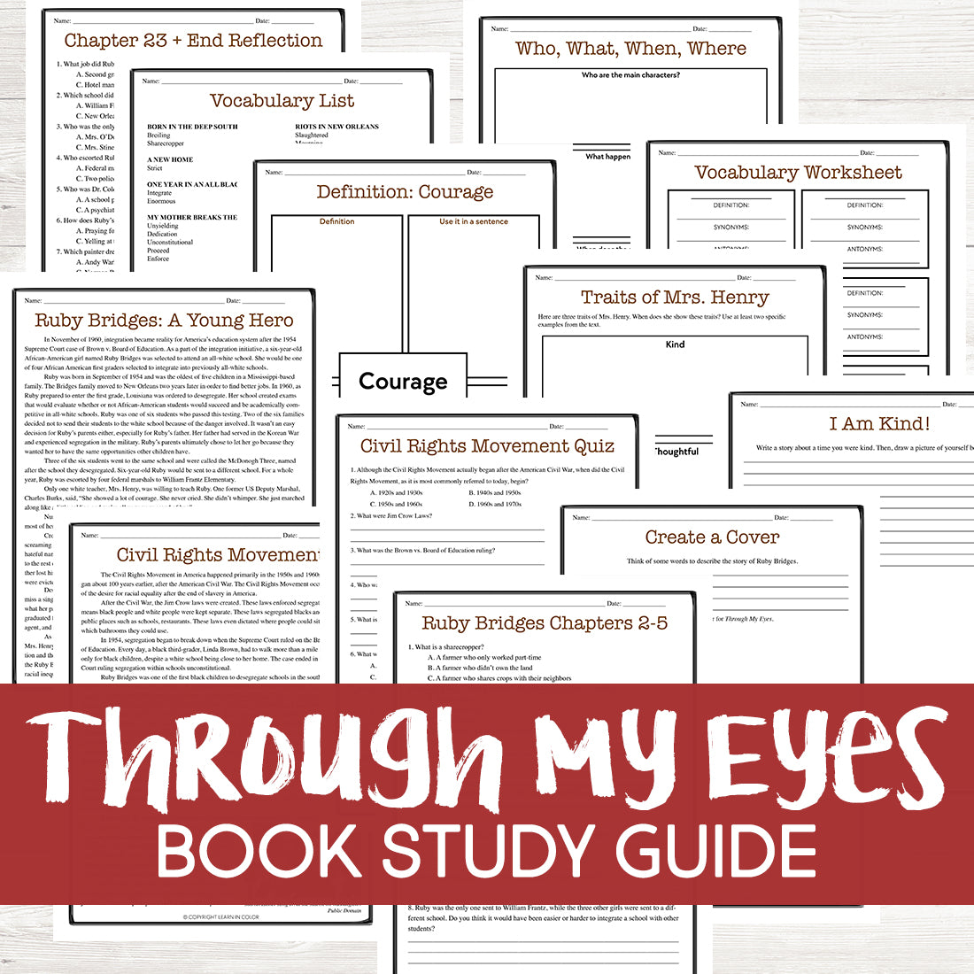 Through My Eyes Book Study Grades: 3-6 - Learn in Color