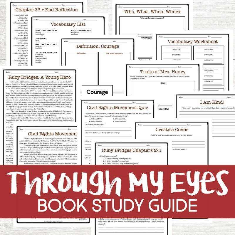Through My Eyes Book Study <h5><b>Grades:</b> 3-6 </h5>