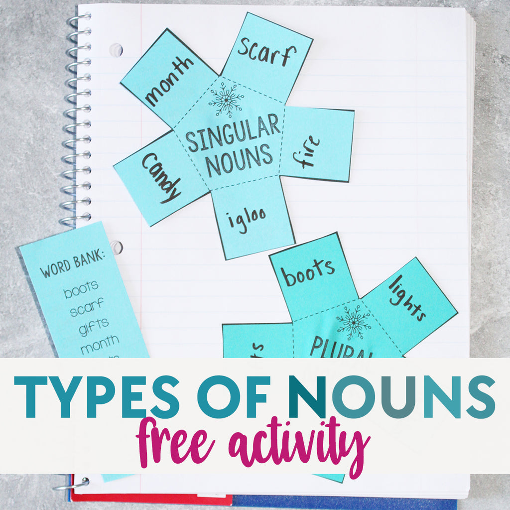 Types of Nouns Winter Activity