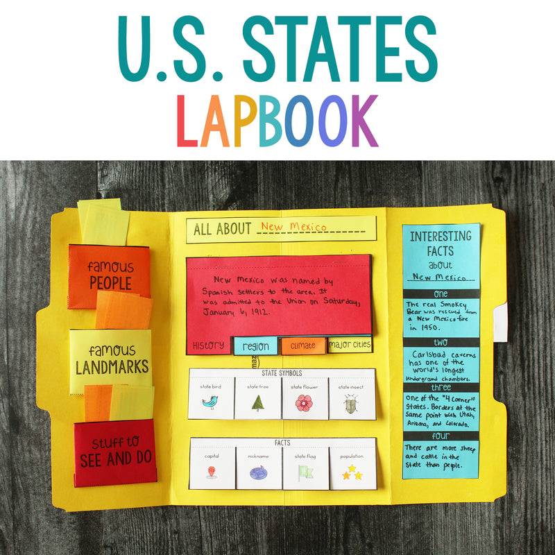 U.S. States Report Free Lapbook