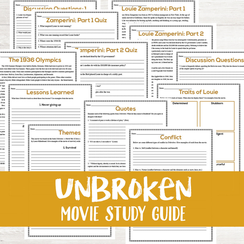 Unbroken Movie Study