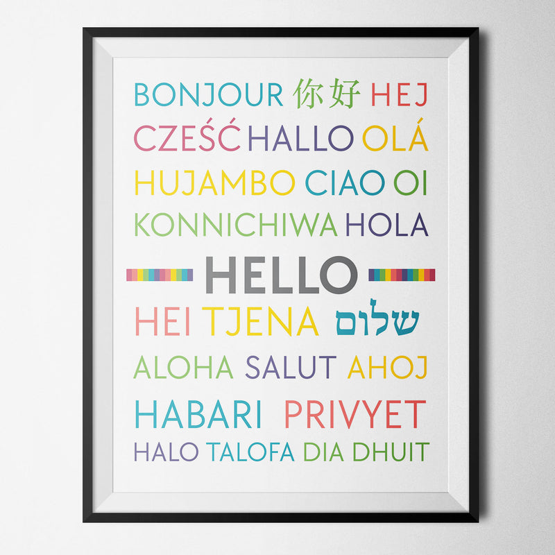 Hello in Foreign Languages Print