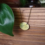 Mountain Range Oval Necklace