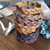 Braided Leather Bracelets {SM}