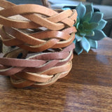 Braided Leather Bracelets {LG}