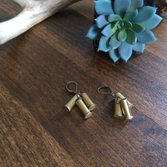 Bullet Shell Cluster Earrings