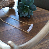 Stone Bar Necklace - Rose