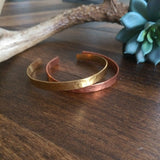 Set of Hammered Metal Cuff Bracelet {Set}