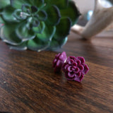 Succulent Stud Earrings - Dusty Plum