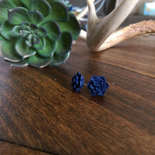 Succulent Stud Earrings - White