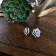 Succulent Stud Earrings - Gray