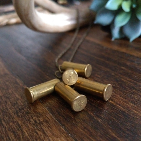 Bullet Shell Cluster Necklace