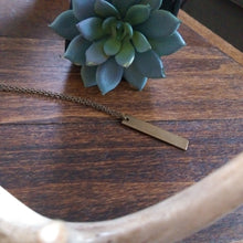 Vertical Brass Bar Layering Necklace