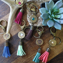 Shotgun Shell Tassel Keychain - MERMAID + MINT