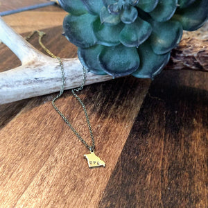 Dainty OPE State Necklace