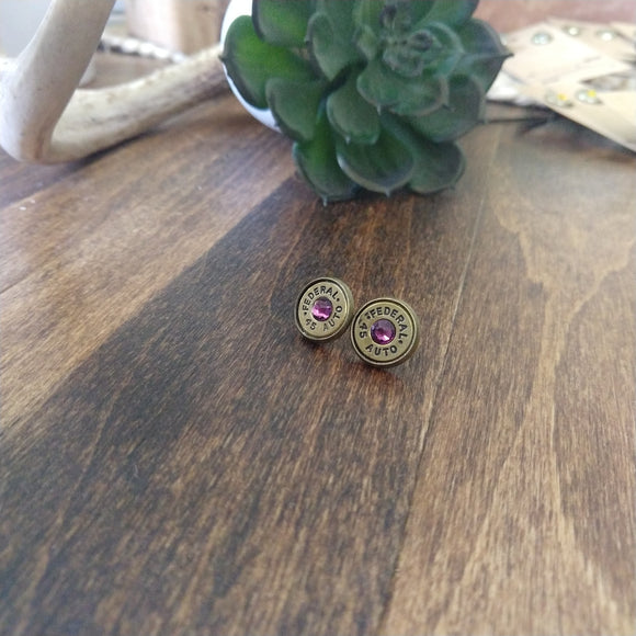 .45 Bullet Earrings