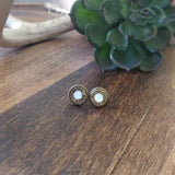 9mm Earrings with Swarovski Gemstone Primer