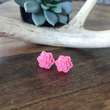 Succulent Stud Earrings - Summer Pink