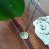 Brass Foliage Disc Necklace