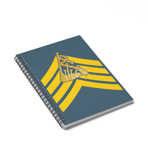 Pipe Major's Spiral Notebook - Ruled Line