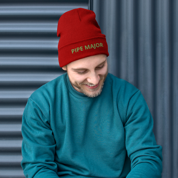 PIPE MAJOR Embroidered Beanie