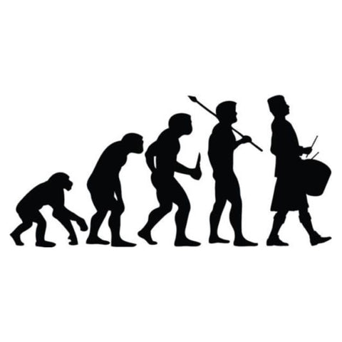 Pipe Band Drummer Evolution | Vinyl Sticker