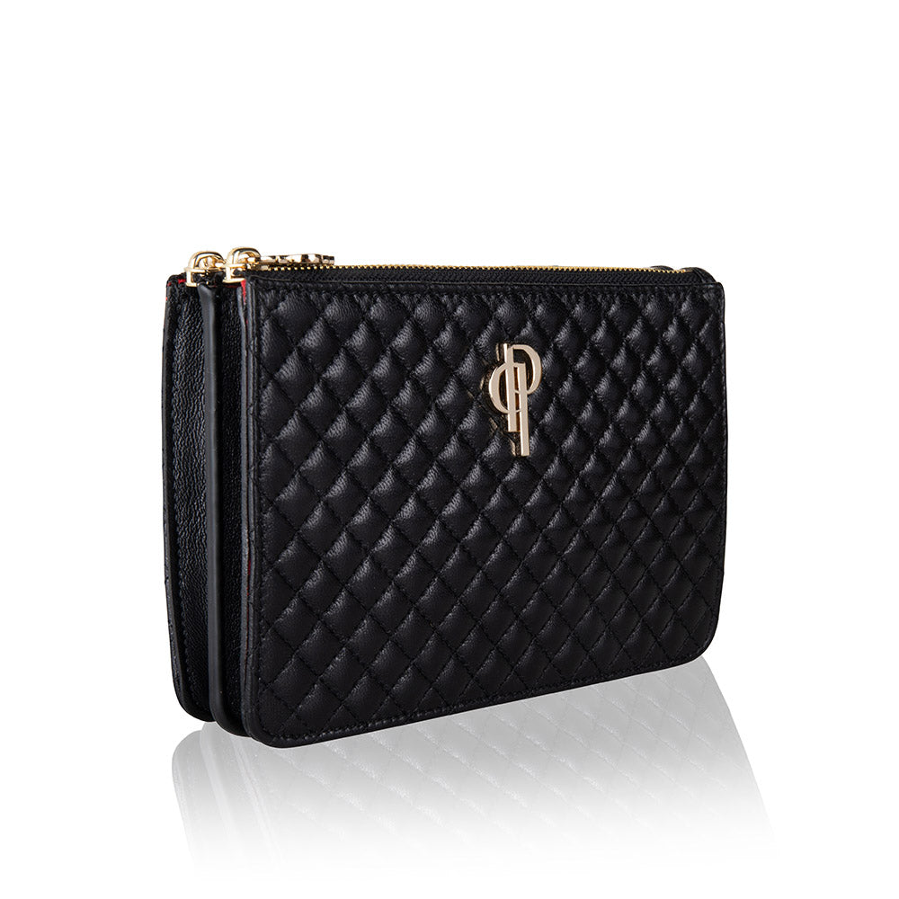 Side image Quilted multifunctional fannypack and crossbody genuine lambskin leather bag