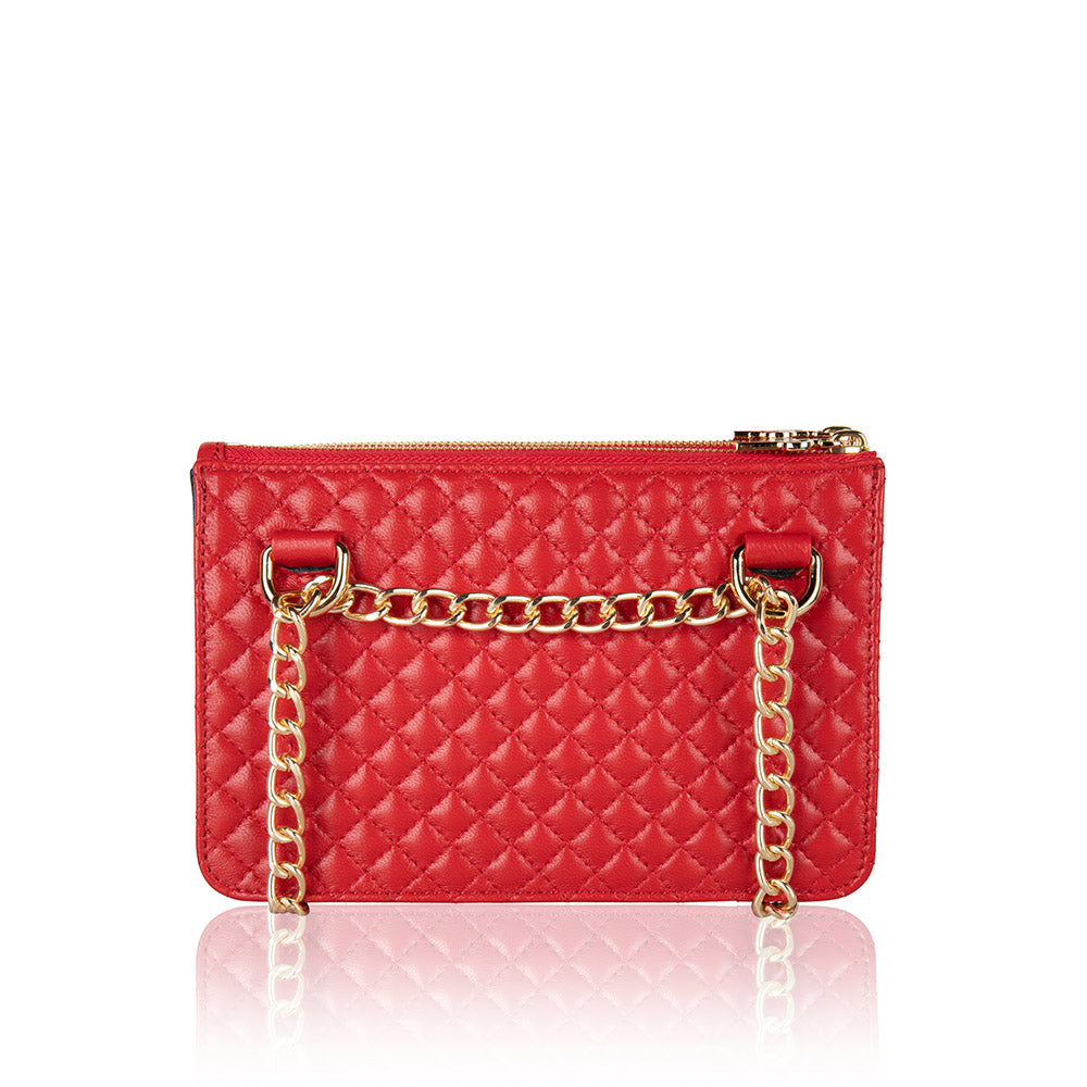POUCHI posh red lambskin
