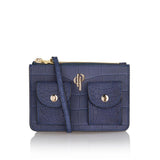 Royal blue POUCHI multifunctional fannypack and crossbody bag with mini pockets