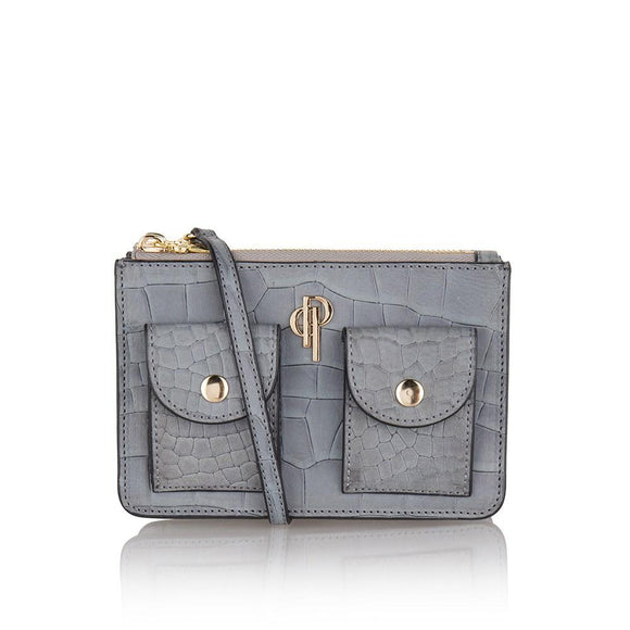 Grey POUCHI multifunctional fannypack and crossbody bag