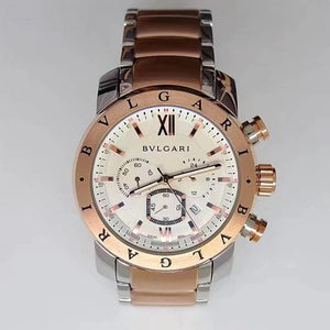 BVLGARI Nuclear Neapon Gold-Silver 45 mm Men`s Quartz Luxury Watch - My Watch Land