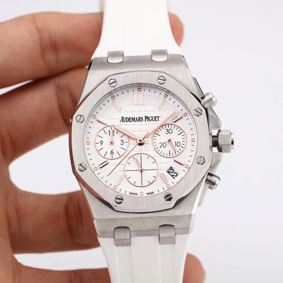 Audemars Piguet ROYAL OAK White Woman`s Watch