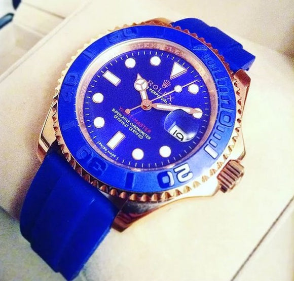 Rolex Yacht-Master Gold/Blue Luxury Men's Watch