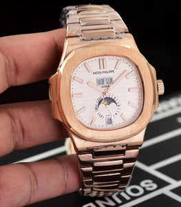 Patek Philippe Nautilus Gold/White Men's Luxury Watch - My Watch Land