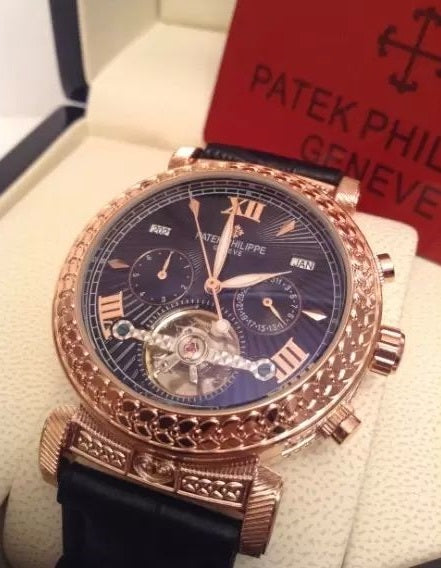 Patek Philippe Men's Luxury Grand MasterChime Gold Black - My Watch Land