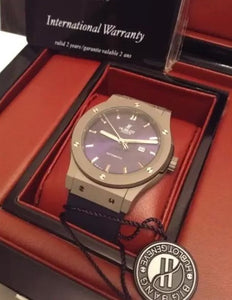 Hublot Men's Luxury Automatic Chrome Blue Watch - My Watch Land
