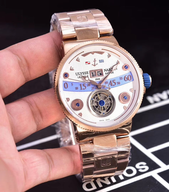 Ulysse Nardin Marine Grand Deck Tourbillon Gold/White - My Watch Land