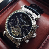 Patek Philippe Grand Master Chime Platinium Silver/Dark Blue Tourbillon Luxury Men's Watch - My Watch Land