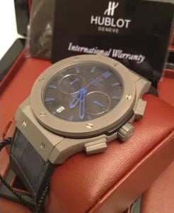 Hublot Classic Luxury Men's Watch Fusion Chronograph Chrome Blue - My Watch Land