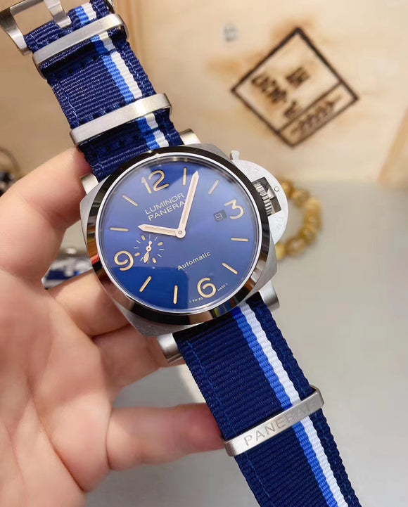 Panerai Luminor Nato Collection Blue Luxury Men`s Watch