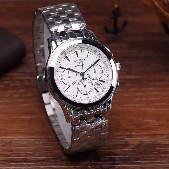 Longines Saint-Imier Chronograph Automatic Luxury Bracelet Stainless Steel Men's Watch