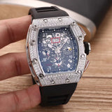 Richard Mille AM 011 Silver Diamonds Luxury Men`s Watch