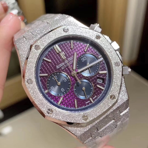 Audemars Piguet Royal Oak Chronograph Frosted Gold Luxury Men`s Watch
