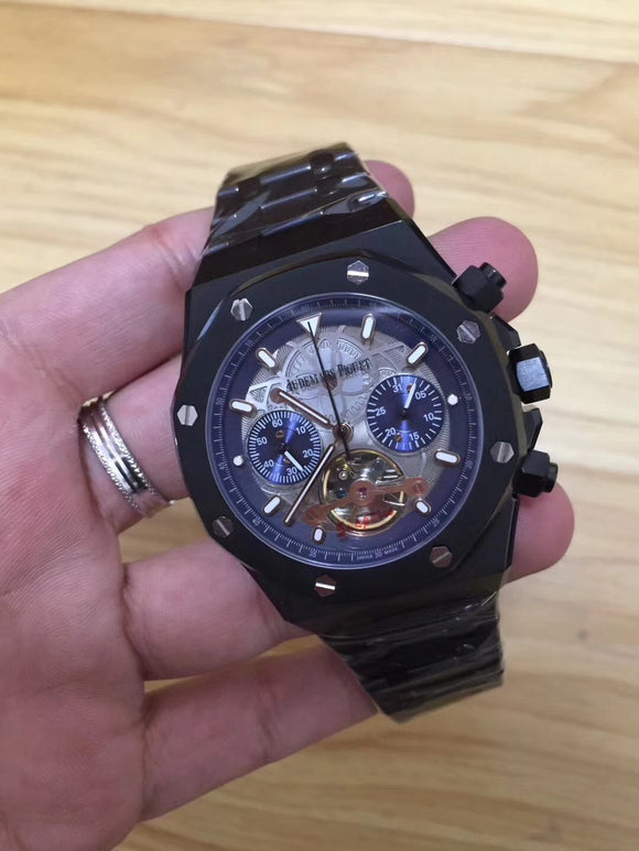 Audemars Piguet Royal Oak Offshore Tourbillon Black Luxury Men Watch