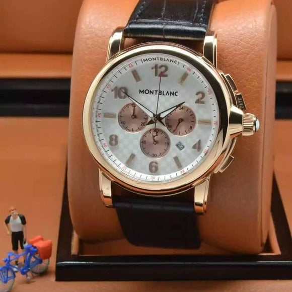 Montblanc Meisterstuk Gold Case Luxury Men Watch