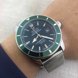 Breitling Superocean Green Mechanical 43 mm Luxury Men's Watch - My Watch Land