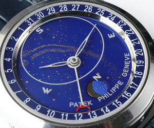 Patek Philippe 6102P Sky Moon Celestial Silver Luxury Men Watch