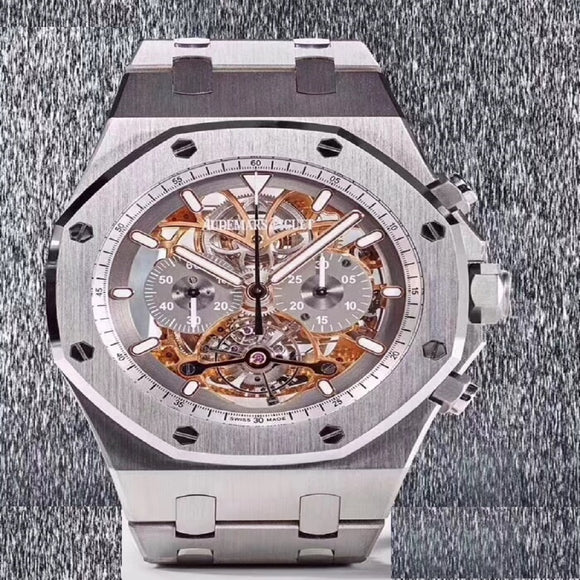 Audemars Piguet Royal Oak Offshore Tourbillon Silver Luxury Men Watch