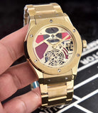 Hublot Classic Gold Stainless Steel 45 mm Men`s Mechanical Tourbillon Luxury Watch - My Watch Land