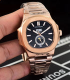 Patek Philippe Nautilus Gold/Black Men's Luxury Watch - My Watch Land